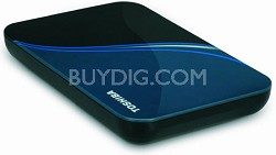NEW 500 GB USB 2.0 Portable External Hard Drive in Liquid Blue - HDDR500E04XL