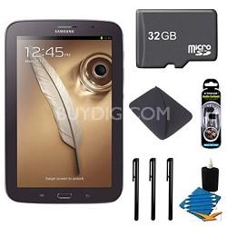 "8"" Galaxy Note 8.0 16GB Brown Tablet 32GB Bundle"