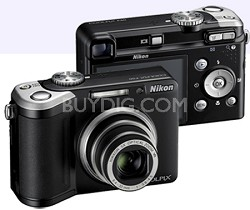 Coolpix P60 8.1MP 5X Zoom Digital Camera (Black) with 2GB Memory Card