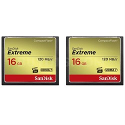 2 Pack Extreme CompactFlash UDMA 7 16GB Memory Card