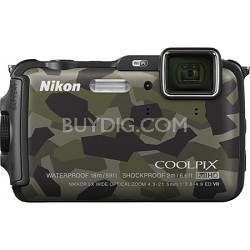 COOLPIX AW120 16MP 1080p Waterproof Shockproof Freezeproof Camo Digital Camera