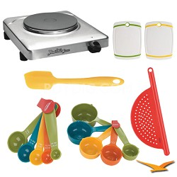 PCR-1S Professional Cast Iron Range, Stainless - Deluxe Bundle
