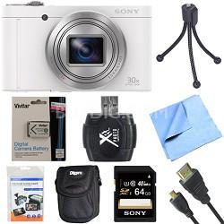 Cyber-Shot DSC-WX500 Digital Camera with 3-Inch LCD Screen White 64GB Bundle