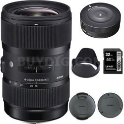AF 18-35mm f/1.8 DC HSM Lens for Canon 210-101 with USB Dock Bundle