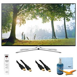"40"" Full HD 1080p Smart HDTV 120HZ with Wi-Fi Plus Hook-Up Bundle - UN40H6350"
