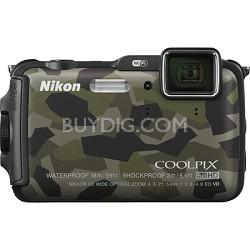 COOLPIX AW120 16MP  Waterproof Shockproof Freezeproof Camo Camera Refurbished