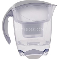 Elemaris XL Water Filtration Pitcher - White