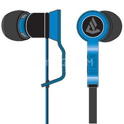 Perseus In-Ear Buds with In-Line MIC / Remote Combo - Black / Blue - OPEN BOX