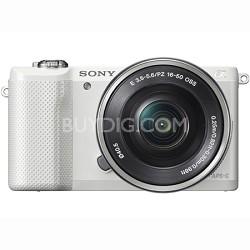 ILCE-5000L/W a5000 20.1 MP Compact Interchangeable Lens - White - OPEN BOX