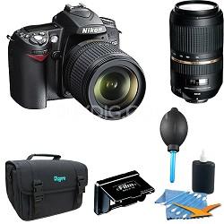 D90 DX-Format Digital SLR Outfit w/ 18-105mm DX VR & 70-300mm Lenses