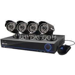 DVR8-3200 TruBlue 960H 8 Channel DVR w/ 1TB HDD & 4 x PRO-642 Cameras - 832004S