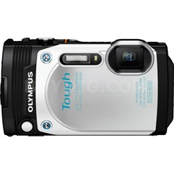 "TG-870 Tough Waterproof 16MP White Digital Camera w/ AF Lock&3"" LCD-Refurbished"