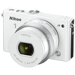 1 J4 Mirrorless 18.4MP Digital Camera with 10-30mm Lens (White)