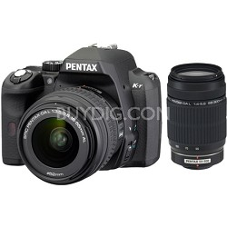 K-r Digital SLR Digital Camera Black w/ 18-55mm and 55-300mm Lens