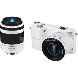 NX2000 20.3MP White Smart Digital Camera with 20-50mm And 50-200 lenses