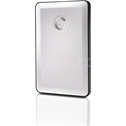 G-DRIVE Slim 500GB USB 3.0 Hard Drive Silver - Factory Refurbished
