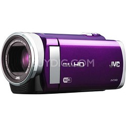 """GZ-EX210VUS - HD Everio Camcorder f1.8 40x Zoom 3.0"""" Touchscreen WiFi (Violet)"""