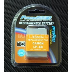 Replacement Battery Pack LP-E8 For EOS Rebel T2i & T3i & T5i