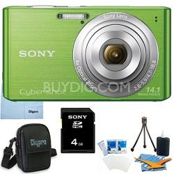 Cyber-shot DSC-W610 Green 4GB Digital Camera Bundle