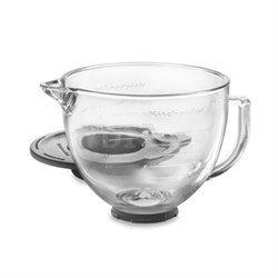 5-Quart Tilt-Head Glass Bowl with Measurement Markings and Lid - K5GB