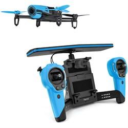 BeBop Drone 14MP Full HD 1080p Fisheye Camera SkyController Bundle (Blue)