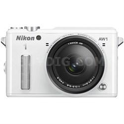 Refurbished 1 AW1 14.2MP Waterproof Mirrorless Camera w/ 11-27.5mm Lens (White)
