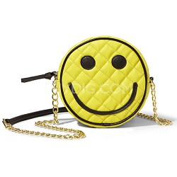 Quilted PVC Smiley Face Crossbody