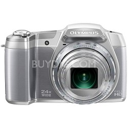 """STYLUS SZ-16 iHS16MP 24x wide/48x  Zoom 1080p HD 3 """" Hi-Res LCD-Silver TOP RATED"""