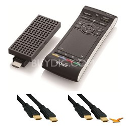 NSZGU1 BRAVIA Smart Stick with Google TV and 2 HDMI Cables Bundle