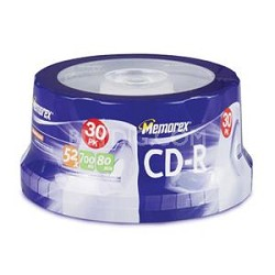 700MB/80-Minute 48x Data CD-R Media (30-Pack Spindle)