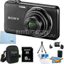 "DSC-WX50/B - 16.2MP CMOS Camera 5X Optical Zoom 2.7"" LCD (Black) 8GB Bundle"