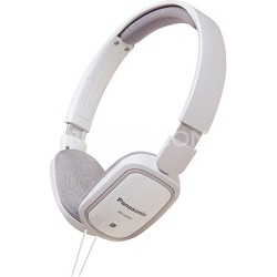 RP-HX40-W Slimz Light Weight On Ear Headphones (White/White)
