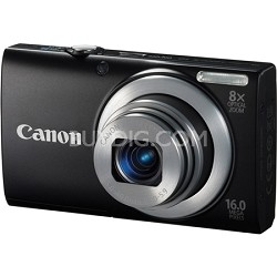 A4000 IS 16MP Black Digital Camera 8x Optical 28mm Wide-Angle Lens