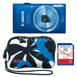 Powershot ELPH 115 IS Blue 16MP Digital Camera with 8x  Zoom Father's Day Kit