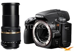 Alpha SLT-A55 16.2 MP Digital SLR Body w Tarmon 18-270 f/3.5-6.3 Di II VC Lens