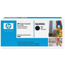Color LaserJet Q6000A Black Print Cartridge w/ Smart Printing Technology