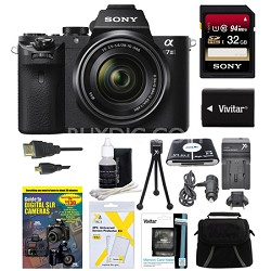 Alpha 7II Interchangeable Lens Camera with 28-70mm Lens 32GB Bundle