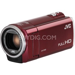 GZ-E100RUS - HD Everio Camcorder 40x Zoom f1.8 (Red)