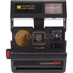 Polaroid 600 Sun 660 AF Camera with Auto Flash & Fixed Focus Lens (Black) - 1376