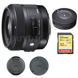 30mm F1.4 ART DC HSM Lens for Nikon Digital SLR Cameras w/ USB Dock Bundle