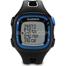 Forerunner 15 Heart Rate Monitor Bundle Large - Black/Blue