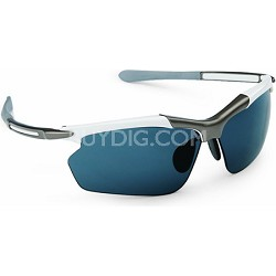 RAZR Hyperlite Sunglasses - White/Gun Metal Frame/NEOX NX14 Lens