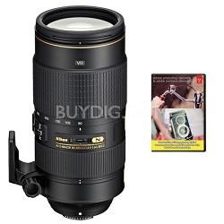 AF-S NIKKOR 80-400mm f.4.5-5.6G ED VR Lens With Adobe Elements Bundle