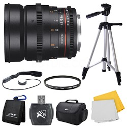 DS 24mm T1.5 Full Frame Wide Angle Cine Lens for Sony E Mount Bundle