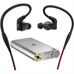 Hybrid 3-way  In-Ear Headphones  w/ Sony Portable Hi-Res DAC Headphone Amplifier
