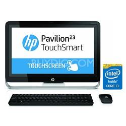 "Pavilion TouchSmart 23"" HD 23-h070 All-In-One PC - Intel Core i3-4130T Processor"