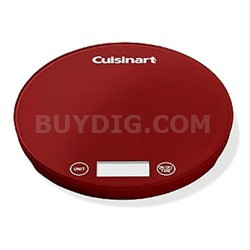 FS-1R Digital Kitchen Scale - Red