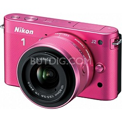 1 J2 SLR Pink Digital Camera w/ 10-30mm VR Lens (27576)