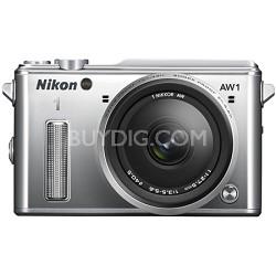 1 AW1 14.2MP Waterproof Shockproof Digital Camera w/ AW 11-27.5mm - Silver