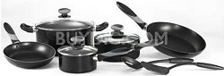Get A Grip 10-Piece Nonstick Cookware Set, Black